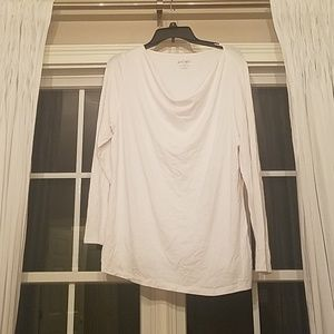 White Cowl Neck Shirt